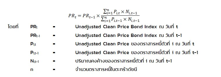 Unadjusted Clean Price Index