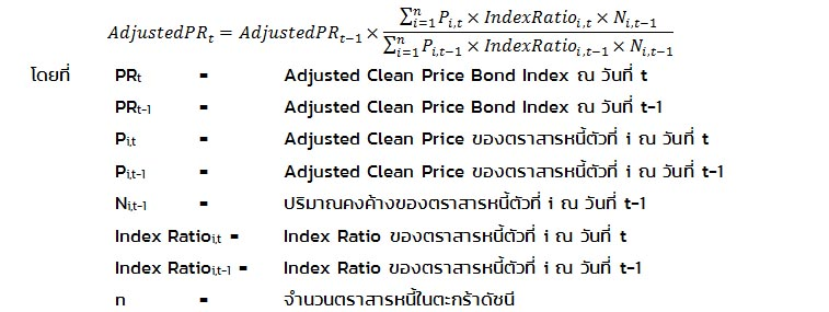 Adjusted Clean Price Index